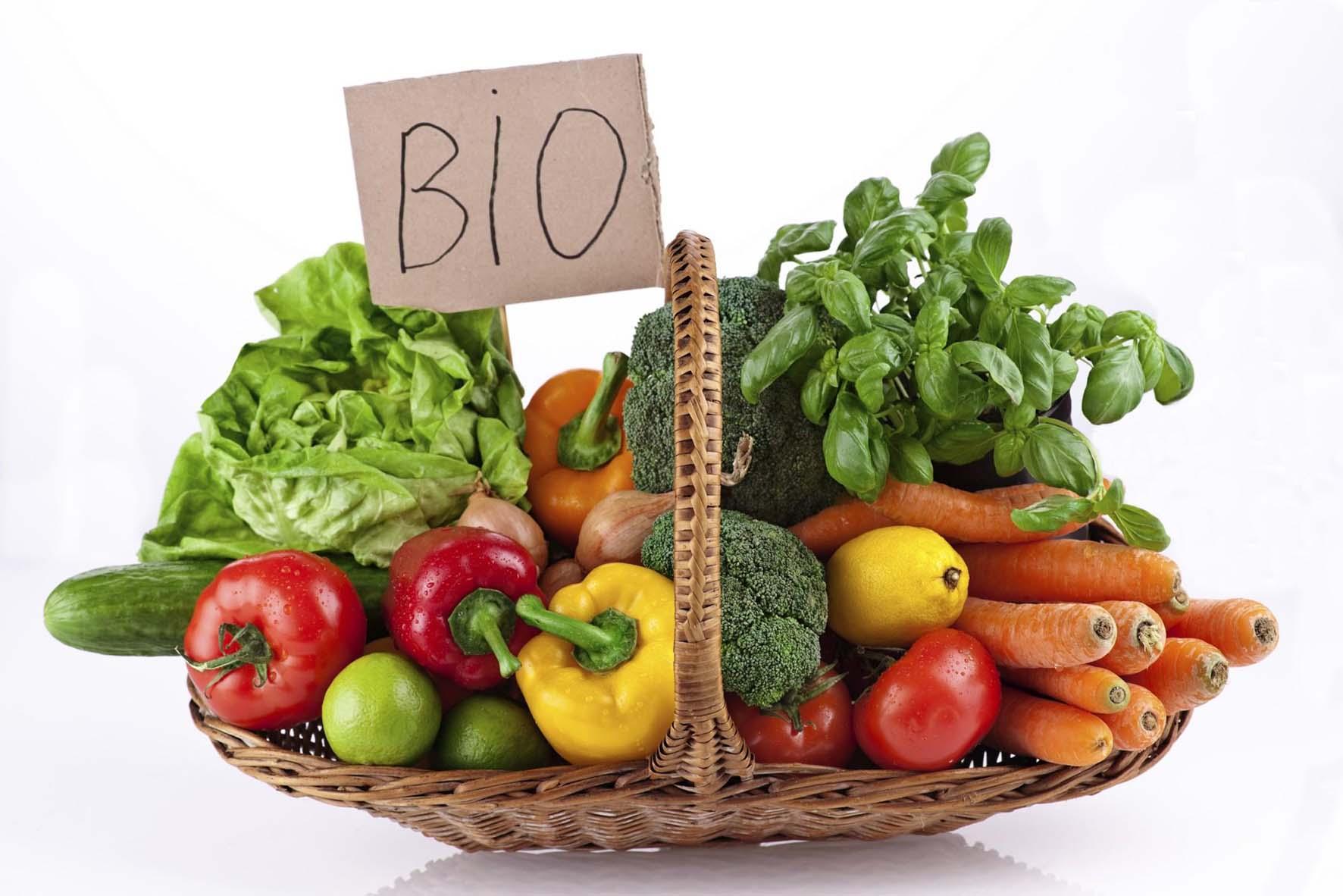 coltivazione bio cesta prodotti