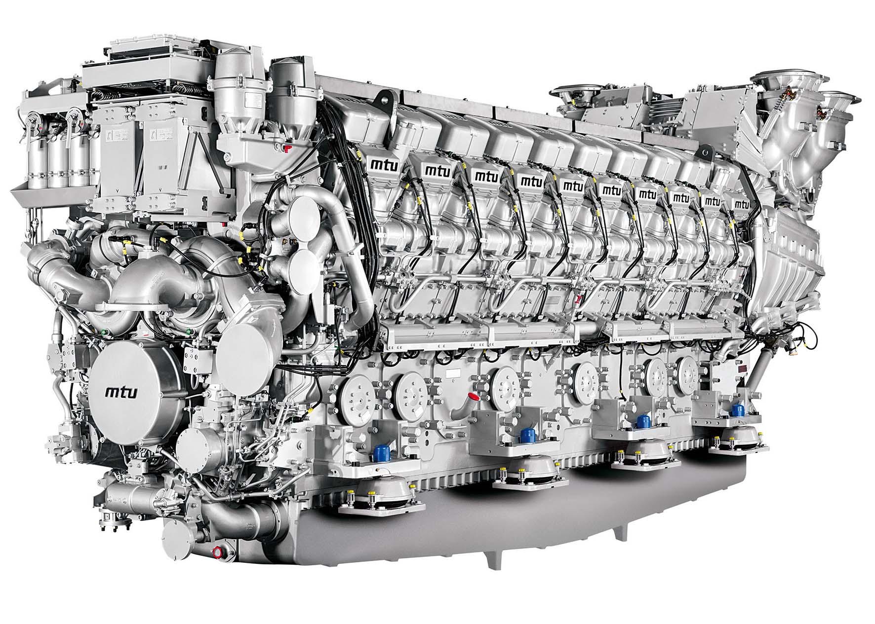 MTU motore serie 8000 20V da 10 MW
