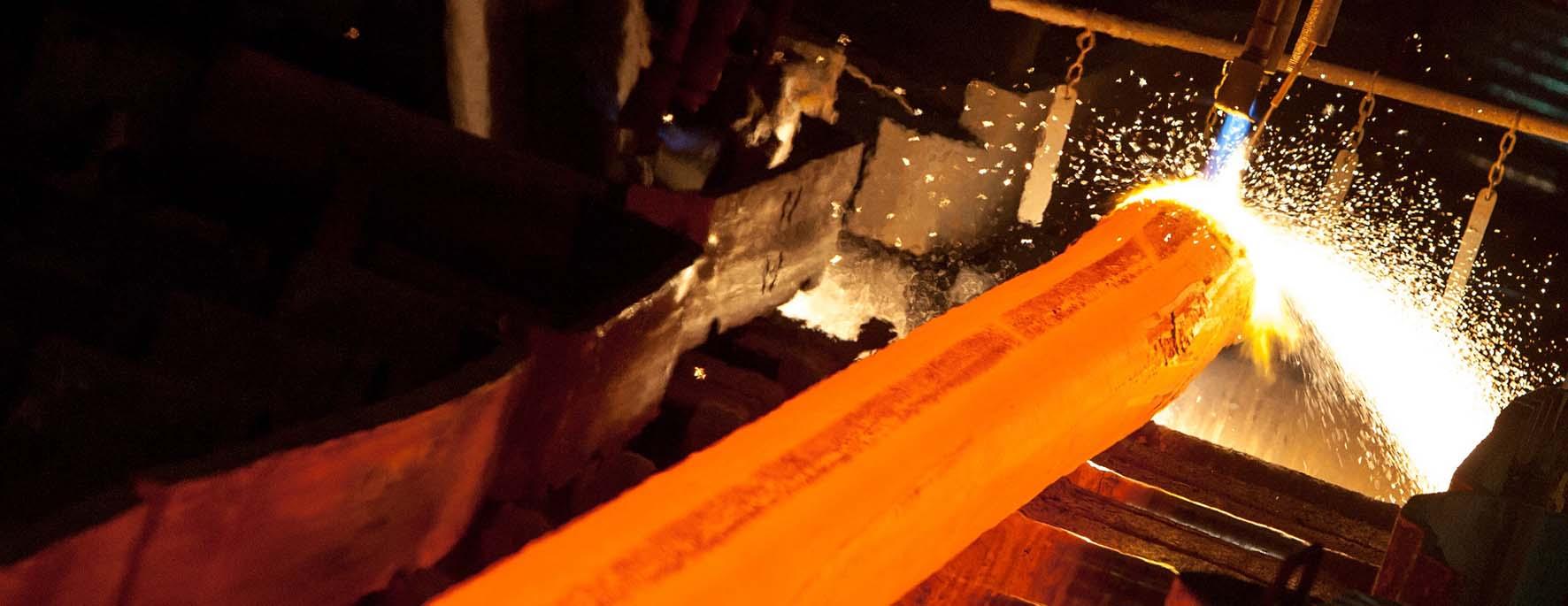 acciaio fonderia estrusione profilato