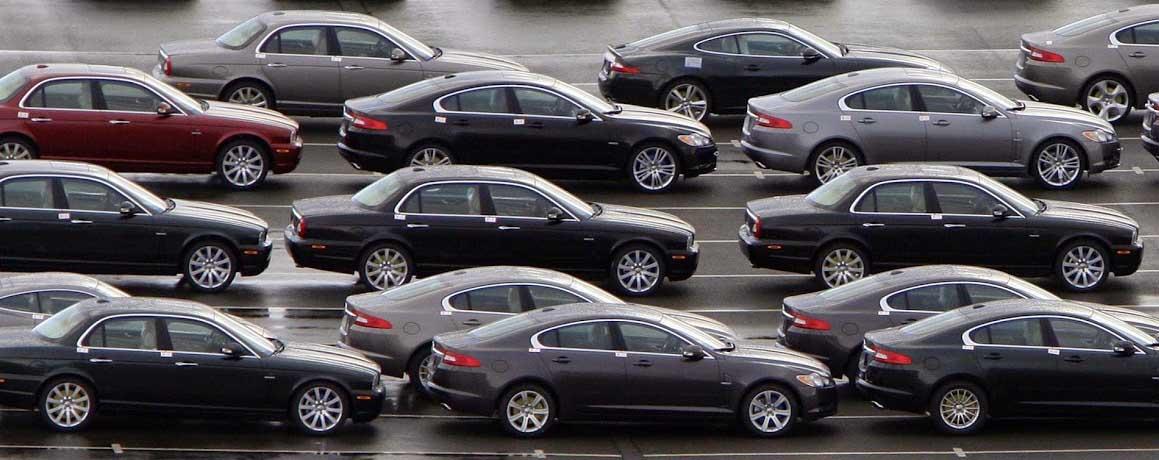 mercato dell'auto autoparco automobili jaguar