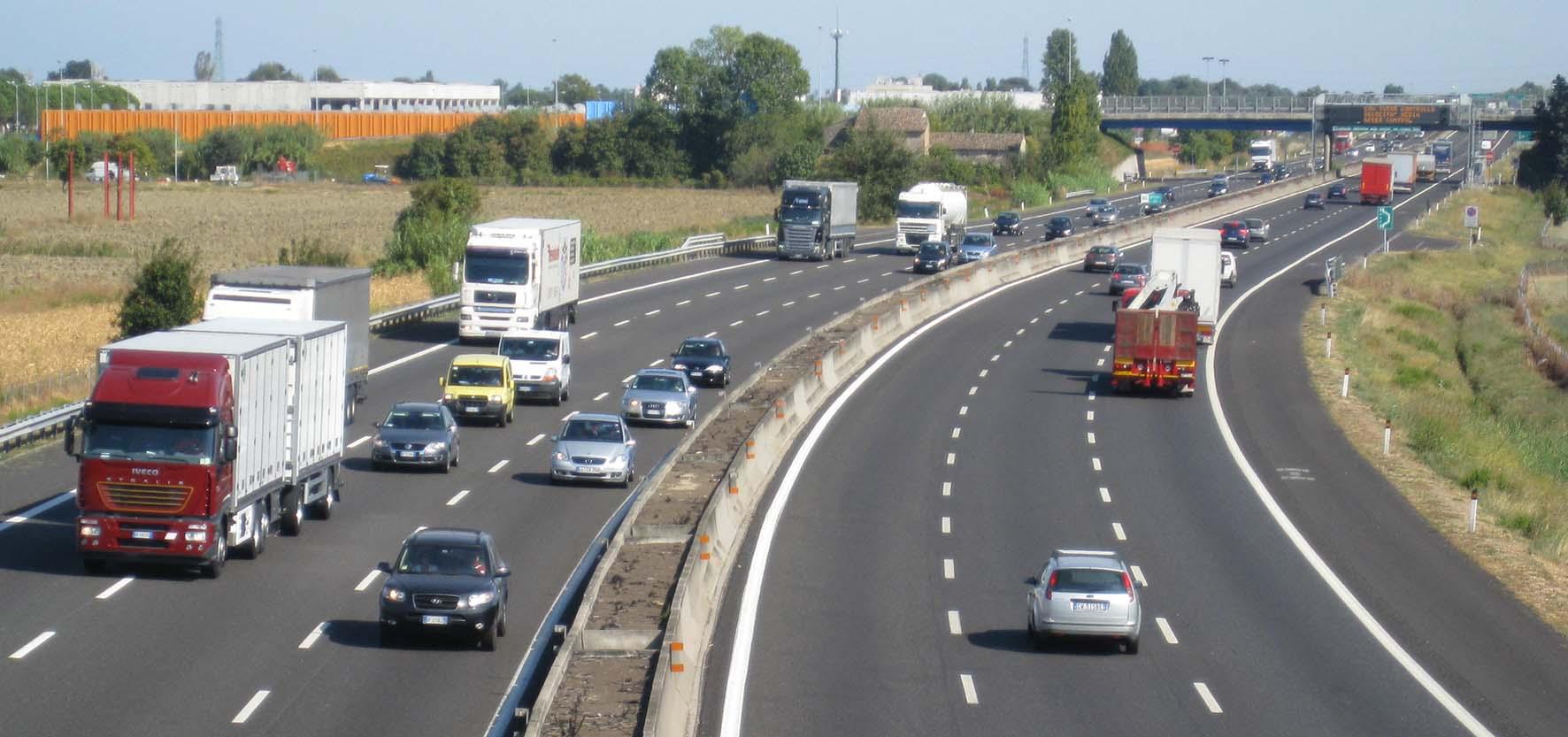 Autostrada traffico A14