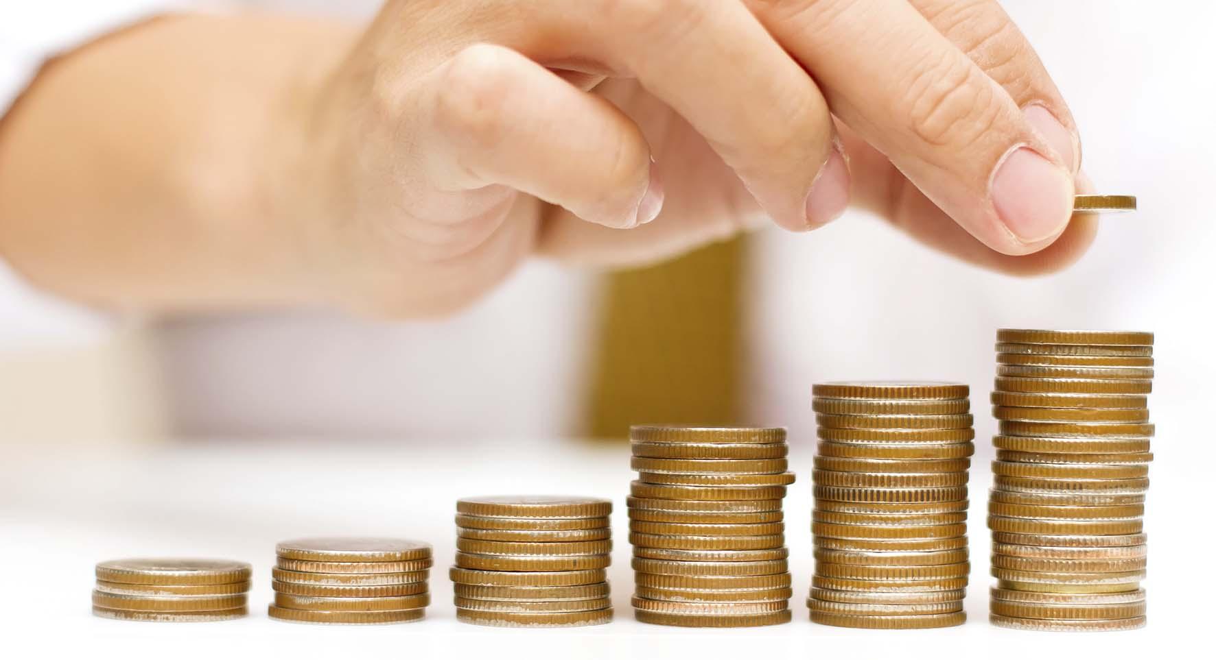 grafico crescita pile monete 2