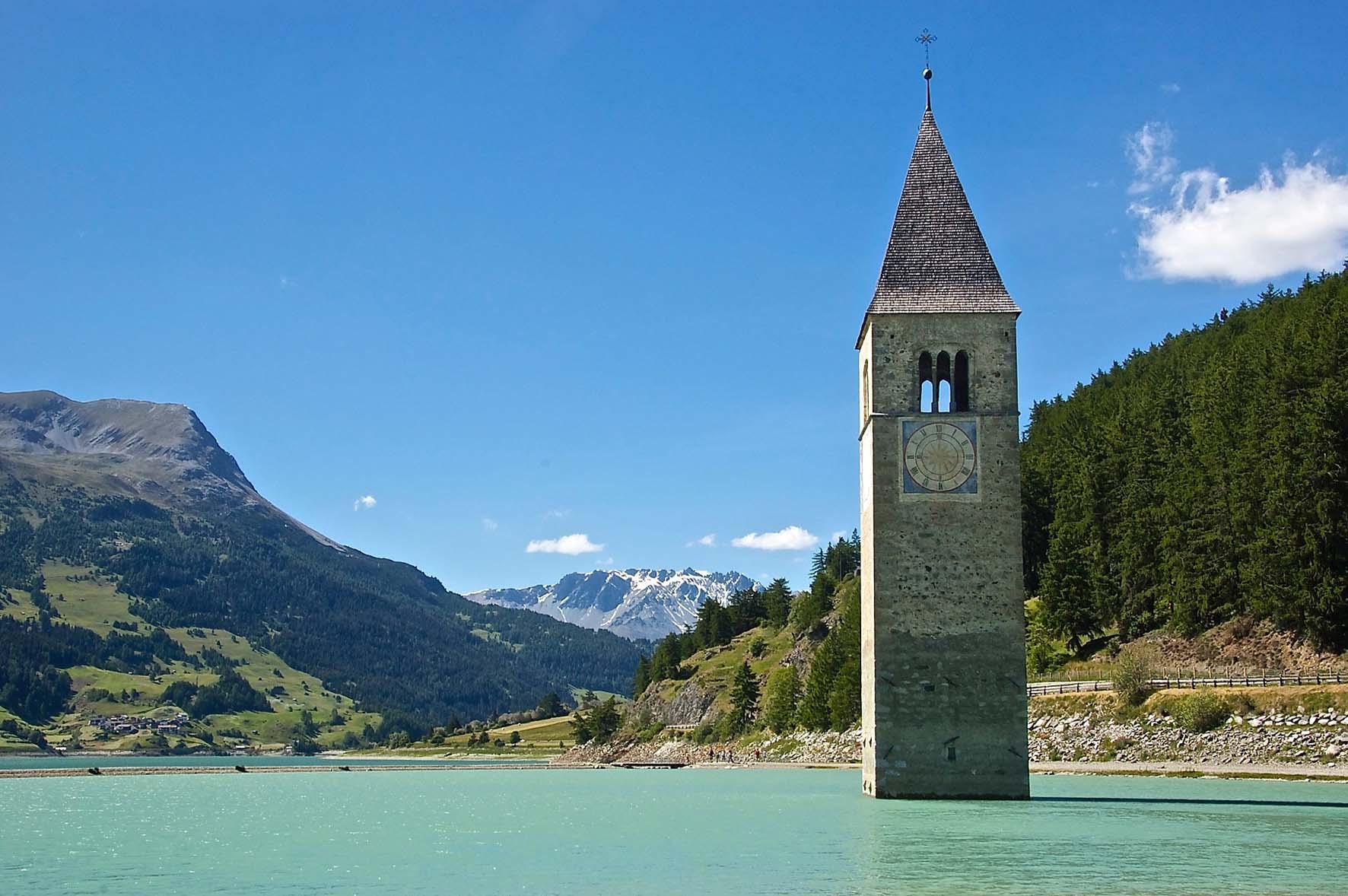 Alto Adige Lago di Resia campanile John Mason Flickr