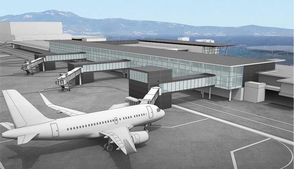 aeroporto catullo rendering nuova stazione arrivi lato pista