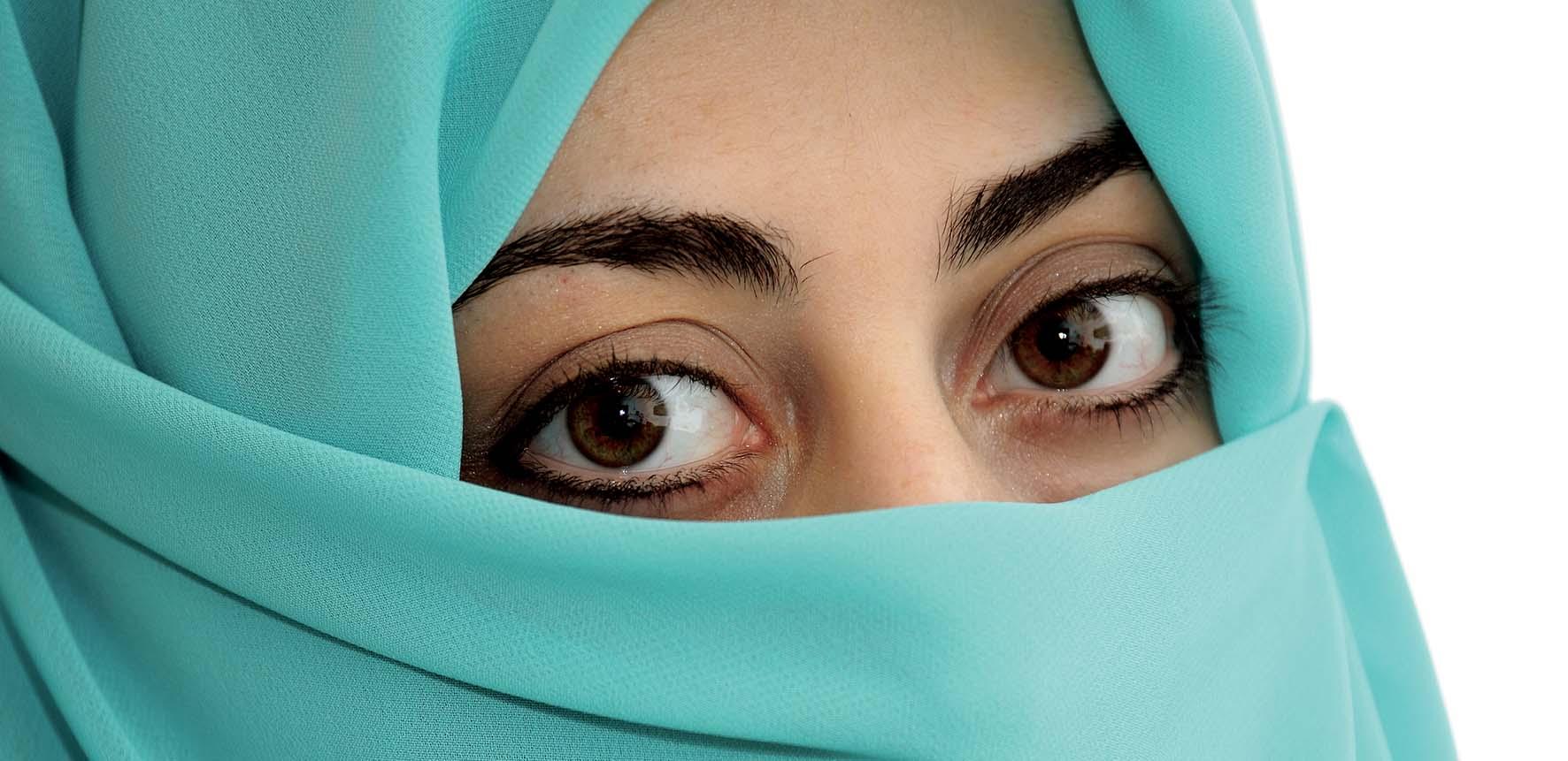 donna araba islam volto coperto