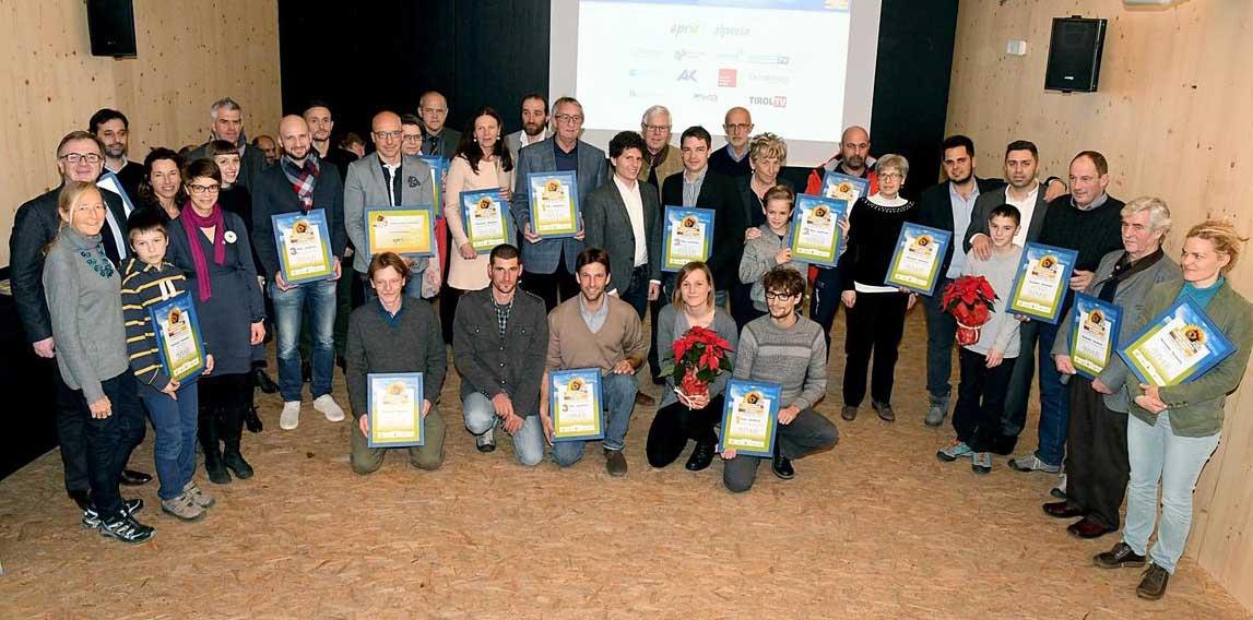 premio ambiente euregio 2016 premiati