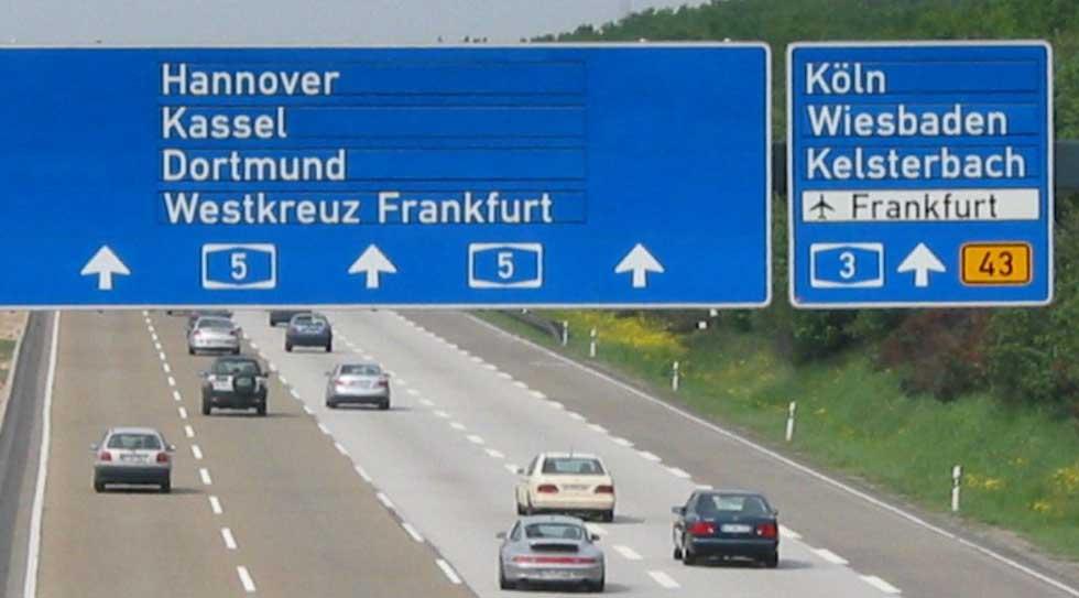 Autunno 2017 le autostrade in Germania saranno a pagamento