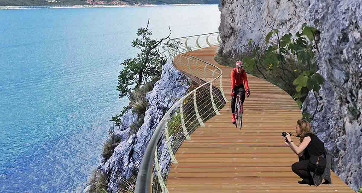ciclovia del garda by bike progetto rendering 2