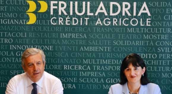 Credit Agricole FriulAdria direttore Roberto Ghisellini presidente Chiara Mio