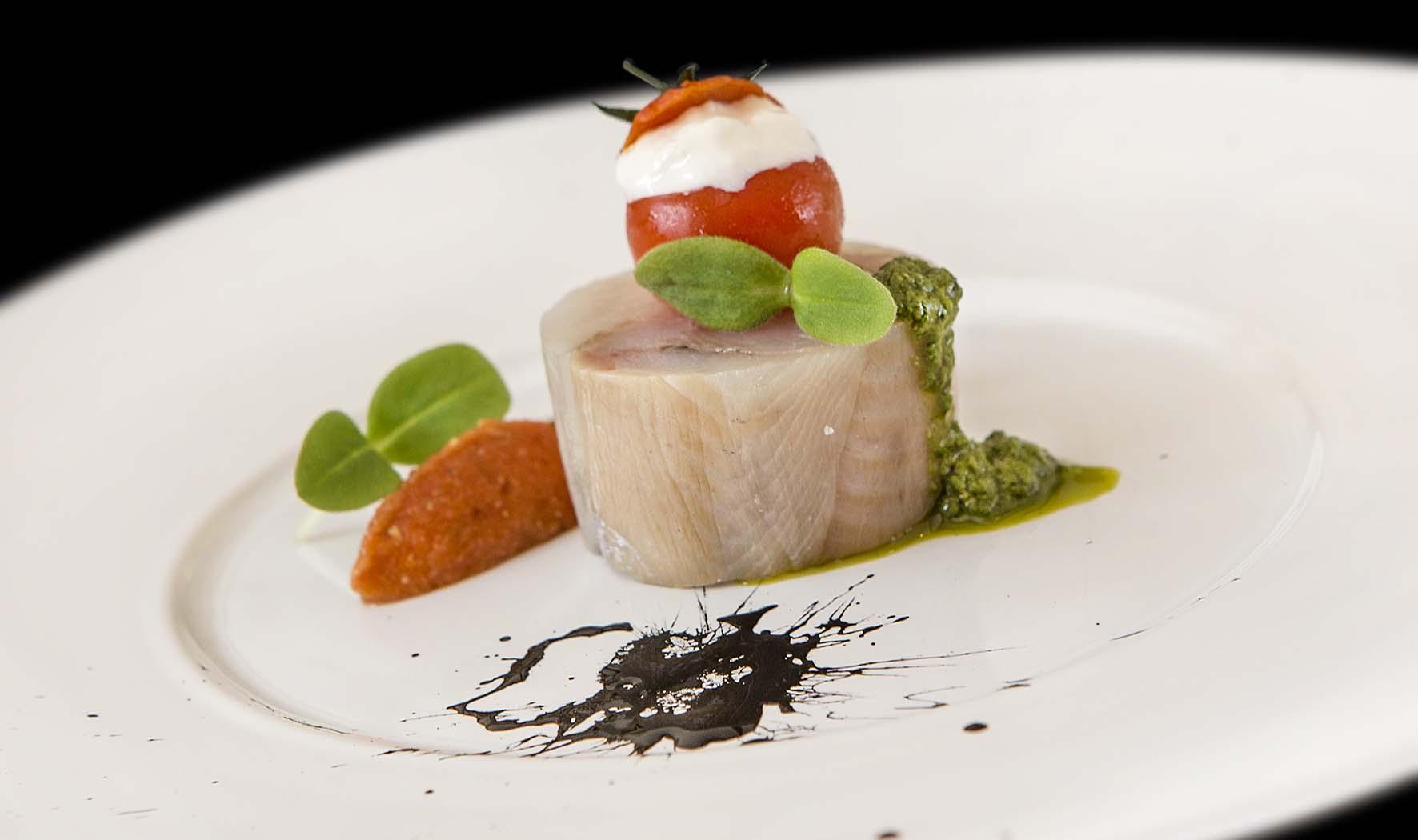 Fish and Chef LAVARELLO BURRATA PESTO POMODORO 2