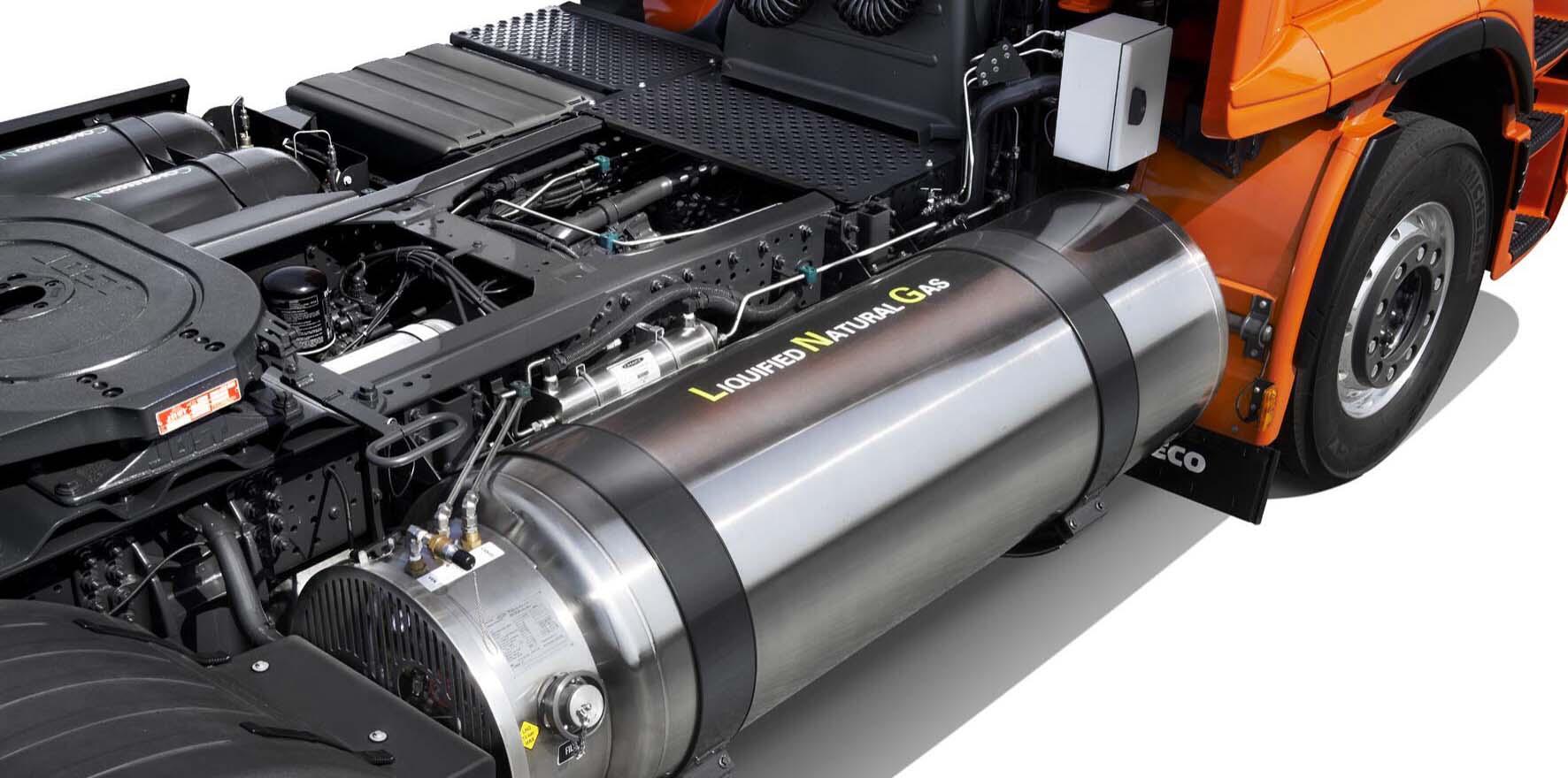 camion motore gas metano liquido LNG