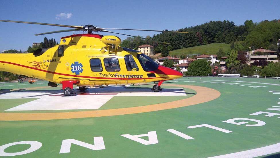 elicottero 118 elisuperfice conegliano