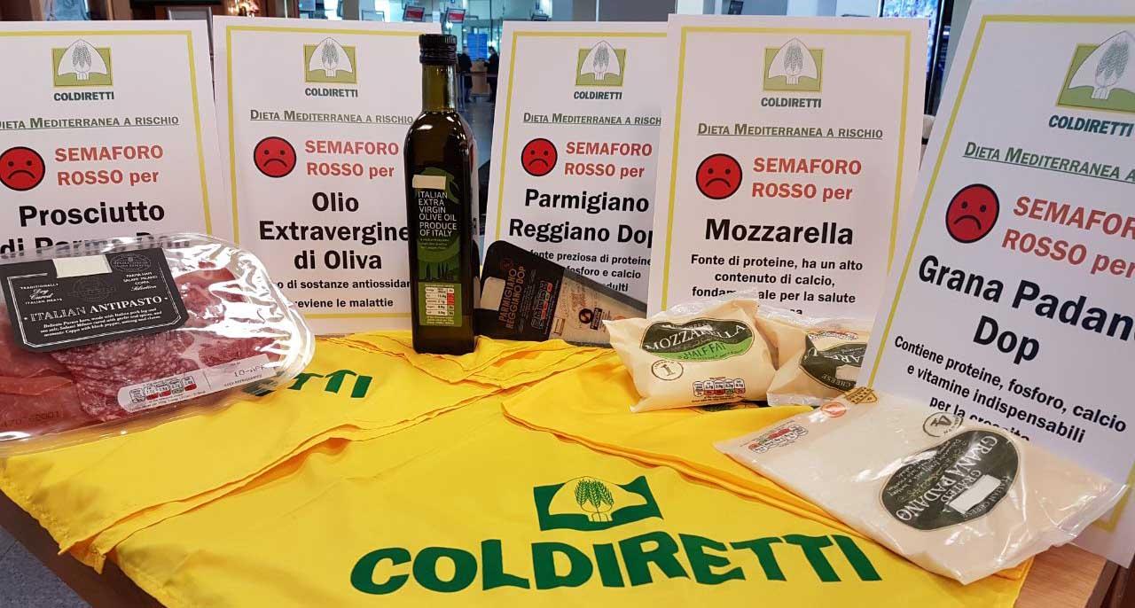 coldiretti semaforo rosso alimentari italia