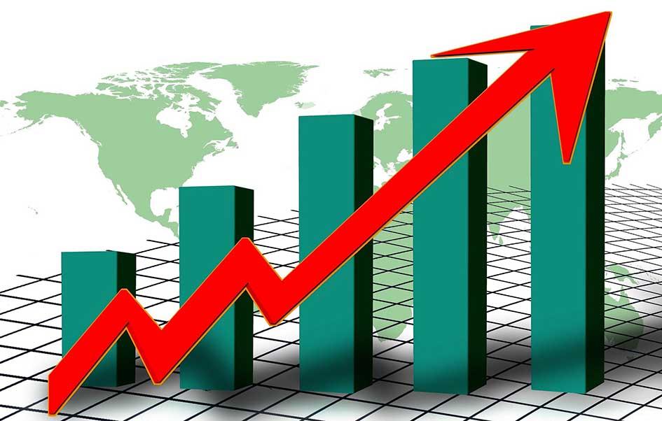 grafico crescita globale mondo export