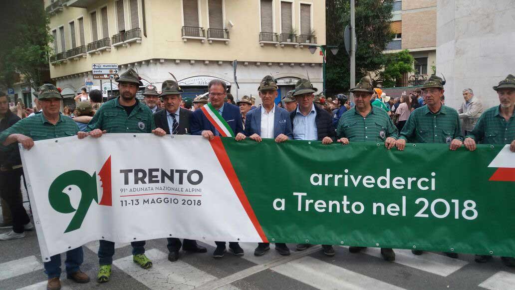 Adunata Alpini 2018 delegazione trento andreatta pinamonti mellarini