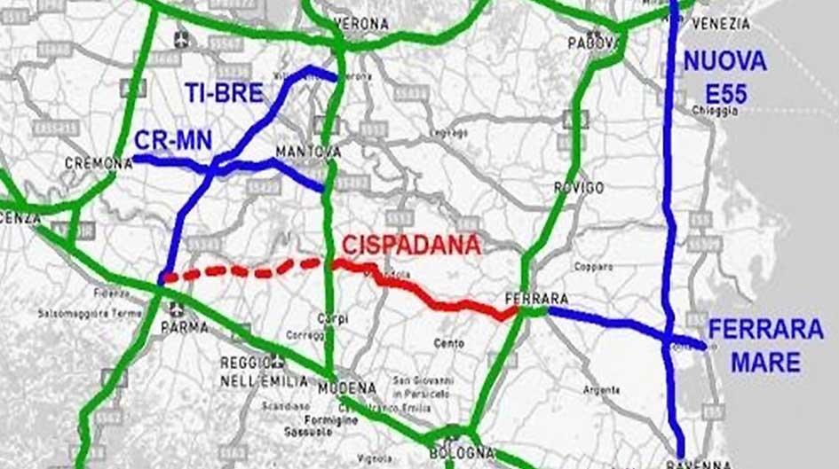 autostrada regionale cispadana mappa