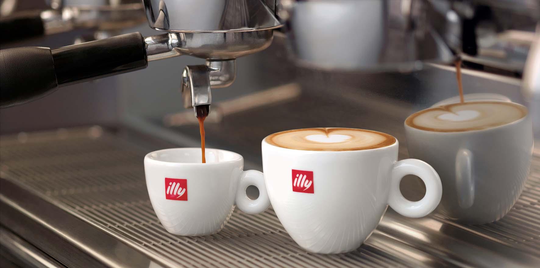 illy caffè macchina espresso bar tazze