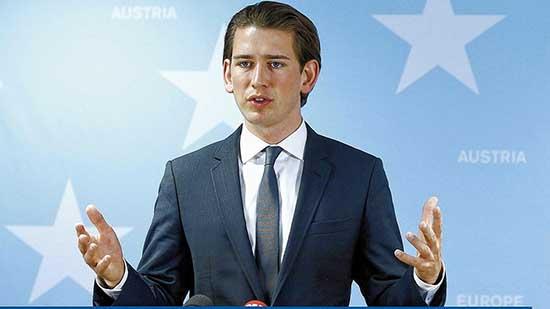 ministro esteri austriaco sebastian kurz