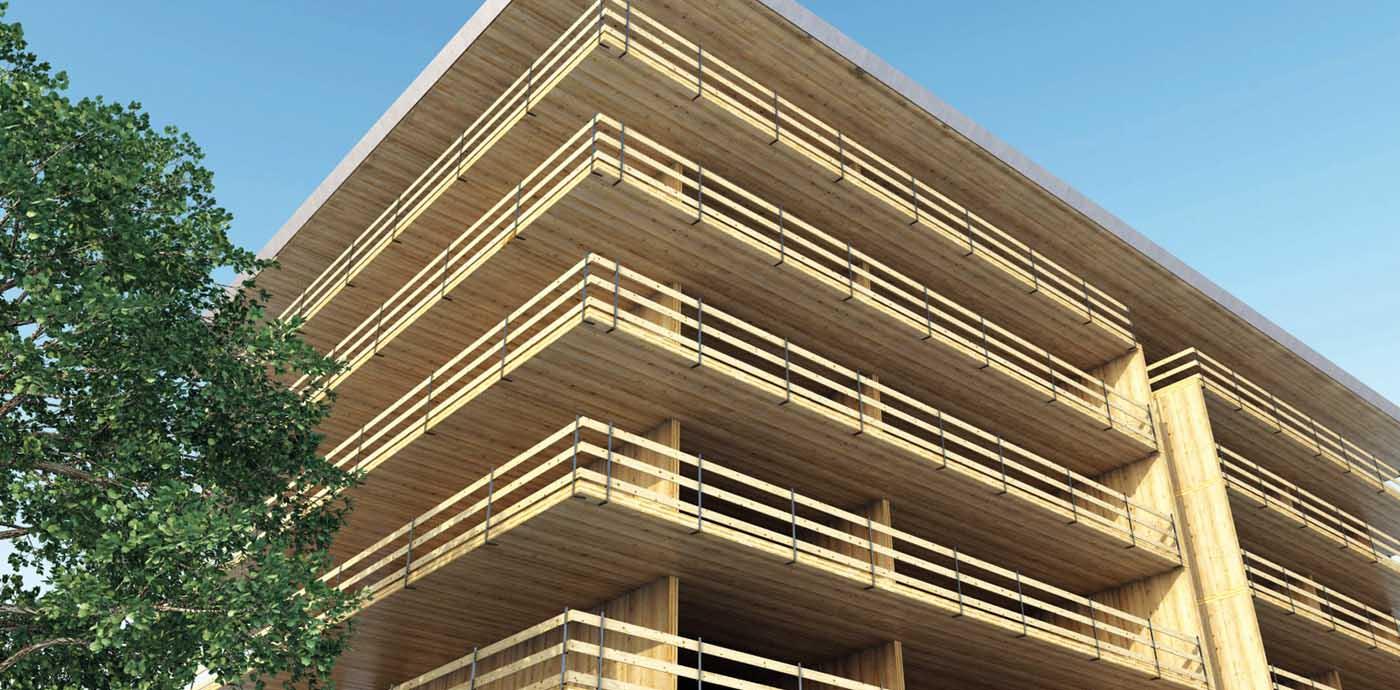 edificio pluripiano condominio realizzato legno xlam