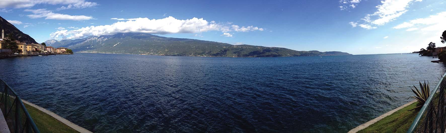 gargnano panorama lago di garda esteso