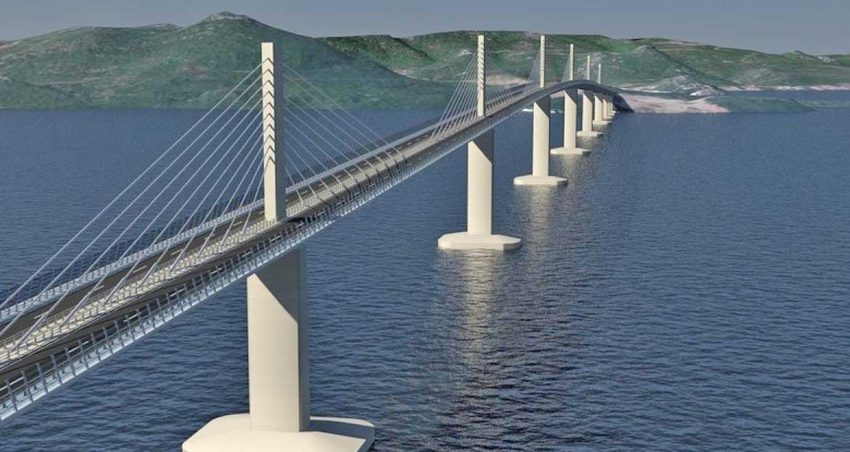 croazia ponte Peljesac rendering