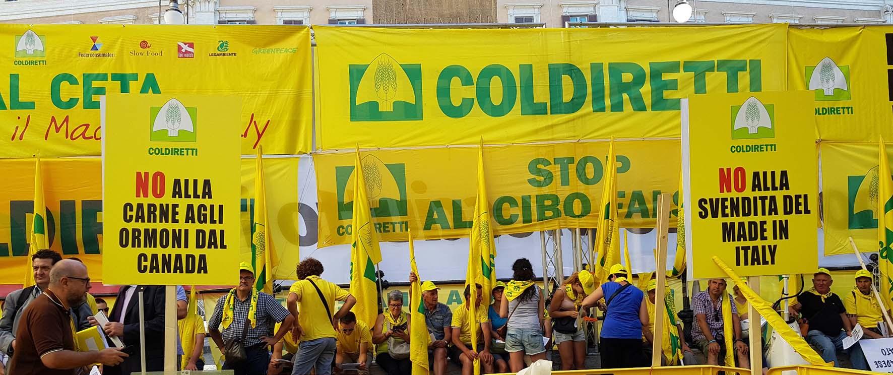 Ceta stop manifestazione coldiretti