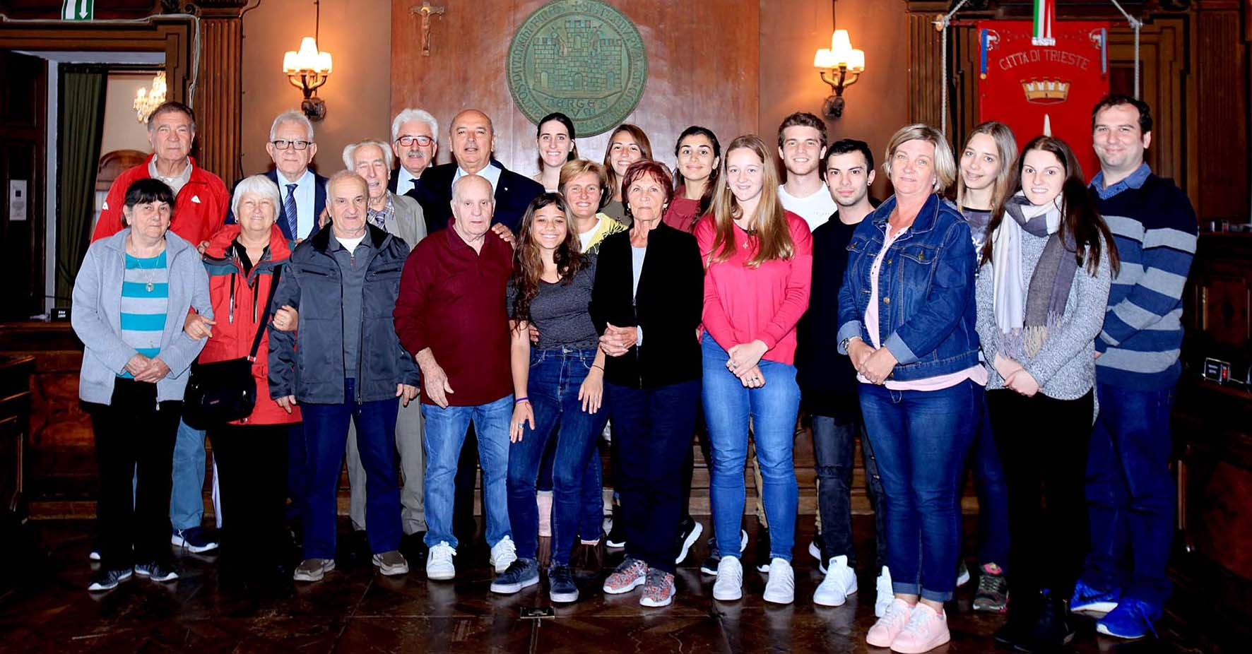 giovani discentendi da emigrai giuliani ricevuti sindaco trieste