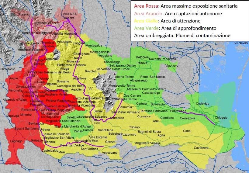 pfas mappa territori inquinati
