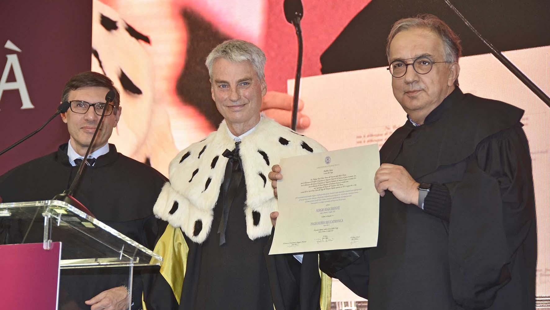 UniTN laura honoris causa Ingegneria industirale sergio marchionne consegna laurea 2
