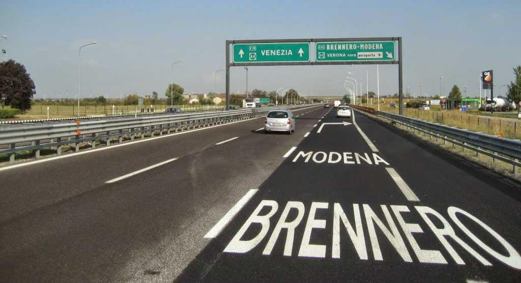 autostrada del brennero cartello