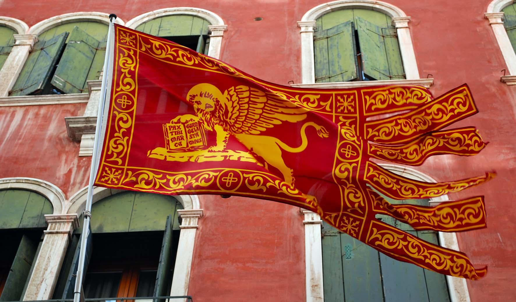sostegno al commercio e ai ricercatori gonfalone leone autonomia gonfalone bandiera veneto maggiore autonomia
