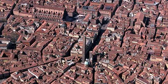 bologna panorama aereo centro storico