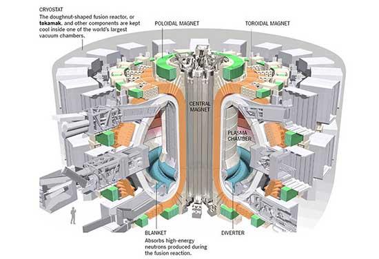 schema Iter reattore fusione