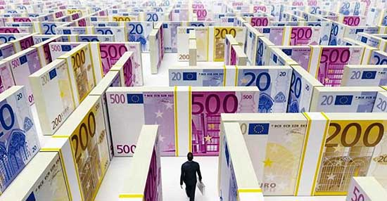 labirinto mazzette euro soldi