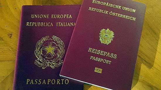passaporto italia austria