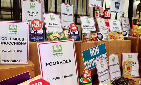 Prodotti alimentari contraffatti