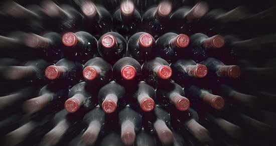 bottiglie vino affinamento