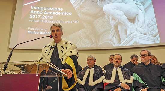 Inaugurazione anno accademico UniTrento 2018 rettore paolo collini