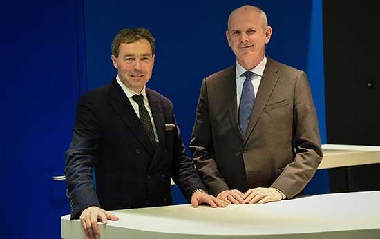 Volksbank2018 da sx Il presidente Otmar Michaeler e il Direttore generale Johannes Schneebacher