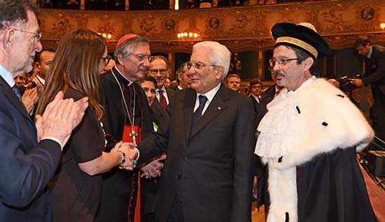 celebrazione 150 anni università ca foscari venezia teatro fenice buglisi mattarella cardinale