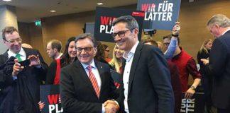 elezioni tirolo 2018 stretta mano tra Kompatscher e PLatter