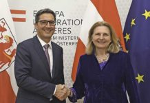 Arno Kompatscher con la Ministra degli esteri austriaca Karin Kneissl