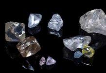 Assortimento di diamanti dalla miniera di Cullinan Il diamante più grande è superiore ai 20 carati