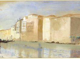 mostra le pietre di venezia opera di Ruskin palazzo ducale vedute di venezia acquarelli 1