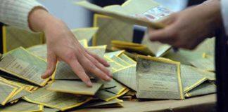 schede elettorali elezioni scrutinio