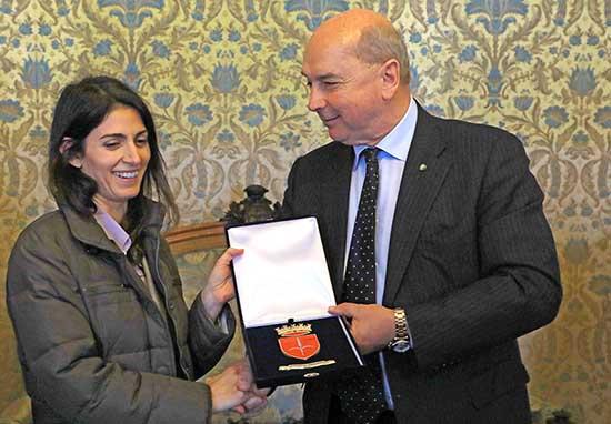 virginia raggi sindaco roma visita sindaco trieste roberto dipiazza