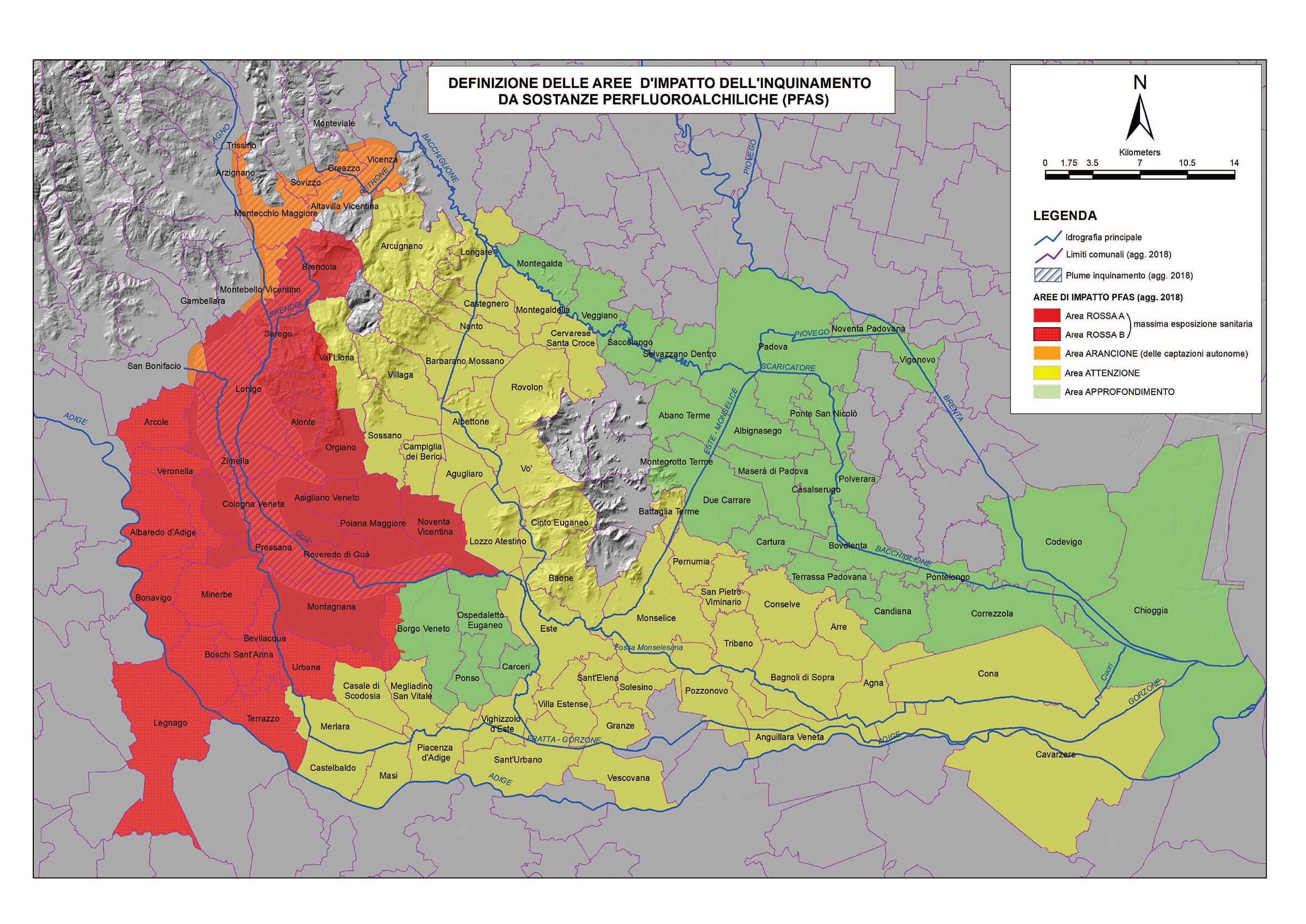Cartina Regione Veneto Politica