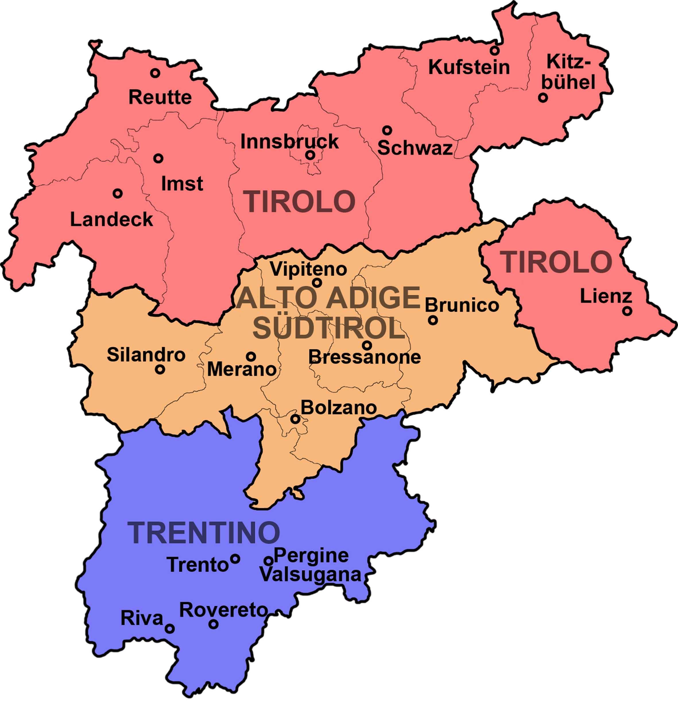 Trentino Alto Adige Cartina Fisica E Politica.I Prezzi Nell Euregio Tirolese Trento Meno Cara Di Bolzano E Innsbruck Il Nordest Quotidiano