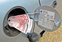 prezzo del gasolio tra Italia e Germania