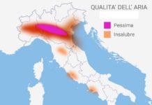 qualità dell'aria in veneto